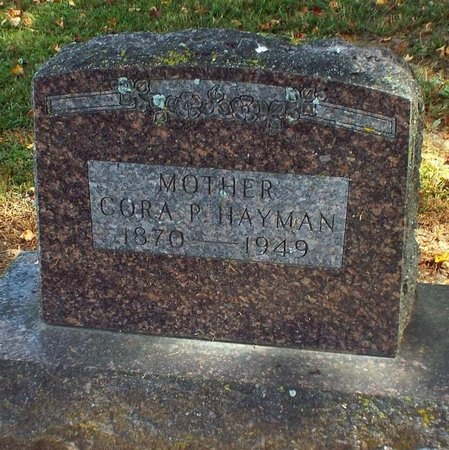 JAMES HAYMAN, CORA P - Ottawa County, Oklahoma | CORA P JAMES HAYMAN - Oklahoma Gravestone Photos