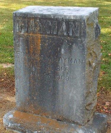 HAYMAN, FRANCIS M - Ottawa County, Oklahoma | FRANCIS M HAYMAN - Oklahoma Gravestone Photos