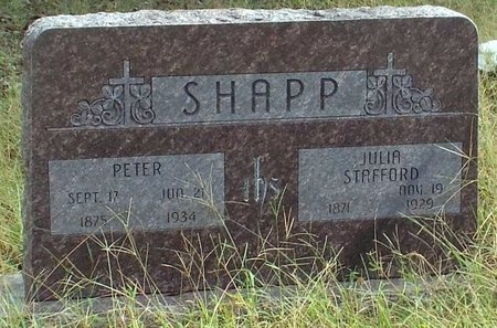 SHAPP, PETER - Ottawa County, Oklahoma | PETER SHAPP - Oklahoma Gravestone Photos
