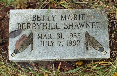 BERRYHILL SHAWNEE, BETTY LEE - Ottawa County, Oklahoma | BETTY LEE BERRYHILL SHAWNEE - Oklahoma Gravestone Photos