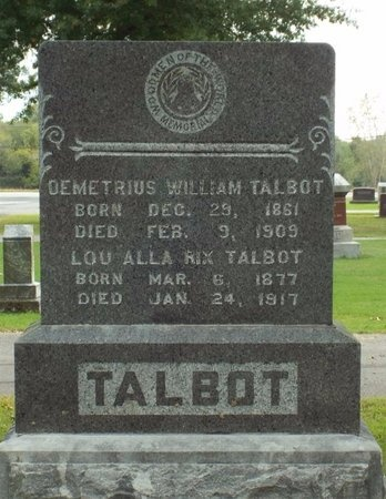 TALBOT, DEMETRIUS WILLIAM - Ottawa County, Oklahoma | DEMETRIUS WILLIAM TALBOT - Oklahoma Gravestone Photos