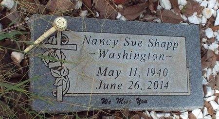 SHAPP WASHINGTON, NANCY SUE - Ottawa County, Oklahoma | NANCY SUE SHAPP WASHINGTON - Oklahoma Gravestone Photos