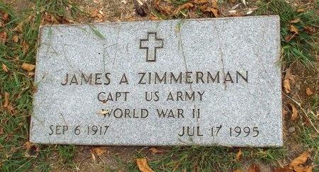 ZIMMERMAN (VETERAN WWII), JAMES A - Ottawa County, Oklahoma | JAMES A ZIMMERMAN (VETERAN WWII) - Oklahoma Gravestone Photos