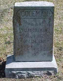 COLEMAN, JOHN FRANK - Pontotoc County, Oklahoma   JOHN FRANK COLEMAN - Oklahoma Gravestone Photos