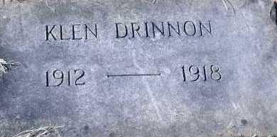 DRINNON, KLEN - Pontotoc County, Oklahoma | KLEN DRINNON - Oklahoma Gravestone Photos