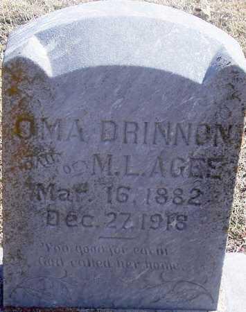 RAGSDALE DRINNON, OMA - Pontotoc County, Oklahoma   OMA RAGSDALE DRINNON - Oklahoma Gravestone Photos