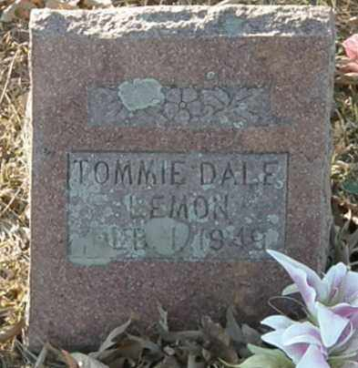LEMON, TOMMIE DALE - Pushmataha County, Oklahoma   TOMMIE DALE LEMON - Oklahoma Gravestone Photos