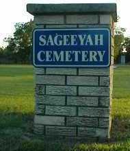 *.*, SAGEEYAH CEMETERY SIGN - Rogers County, Oklahoma | SAGEEYAH CEMETERY SIGN *.* - Oklahoma Gravestone Photos