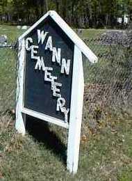 *.*, WANN CEMETERY SIGN - Rogers County, Oklahoma | WANN CEMETERY SIGN *.* - Oklahoma Gravestone Photos