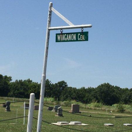 SIGN, WINGANON CEMETERY - Rogers County, Oklahoma | WINGANON CEMETERY SIGN - Oklahoma Gravestone Photos