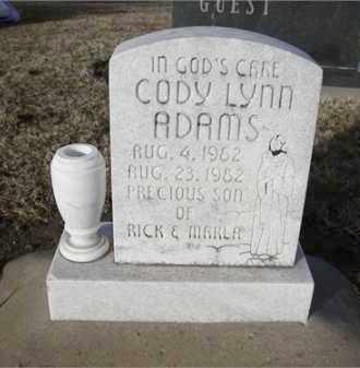 ADAMS, CODY LYNN - Stephens County, Oklahoma   CODY LYNN ADAMS - Oklahoma Gravestone Photos