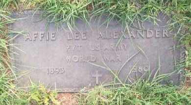 ALEXANDER, AFFIE LEE - Stephens County, Oklahoma   AFFIE LEE ALEXANDER - Oklahoma Gravestone Photos