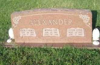ALEXANDER, MINNIE L. - Stephens County, Oklahoma | MINNIE L. ALEXANDER - Oklahoma Gravestone Photos