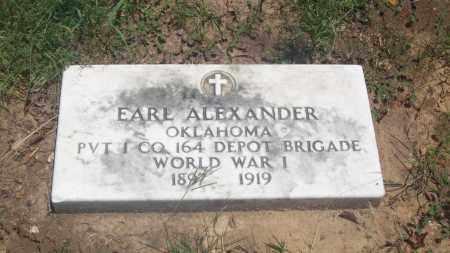 ALEXANDER, EARL - Stephens County, Oklahoma   EARL ALEXANDER - Oklahoma Gravestone Photos