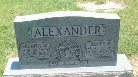 ALEXANDER, FLORITA M. - Stephens County, Oklahoma | FLORITA M. ALEXANDER - Oklahoma Gravestone Photos