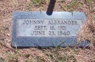 ALEXANDER, JOHNNY - Stephens County, Oklahoma   JOHNNY ALEXANDER - Oklahoma Gravestone Photos