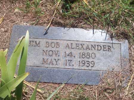 ALEXANDER, JIM BOB - Stephens County, Oklahoma   JIM BOB ALEXANDER - Oklahoma Gravestone Photos
