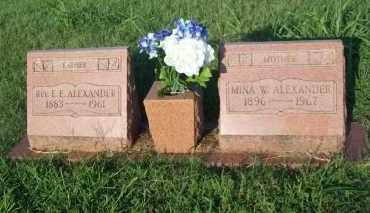 ALEXANDER, MINA W. - Stephens County, Oklahoma   MINA W. ALEXANDER - Oklahoma Gravestone Photos