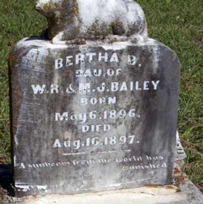 BAILEY, BERTHA B. - Stephens County, Oklahoma | BERTHA B. BAILEY - Oklahoma Gravestone Photos