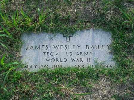 BAILEY, JAMES WESLEY - Stephens County, Oklahoma   JAMES WESLEY BAILEY - Oklahoma Gravestone Photos