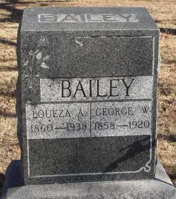 BAILEY, LOUEZA A. - Stephens County, Oklahoma | LOUEZA A. BAILEY - Oklahoma Gravestone Photos