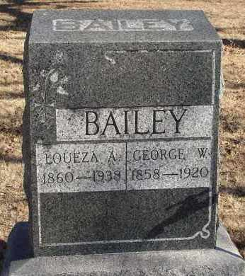 BAILEY, GEORGE W. - Stephens County, Oklahoma | GEORGE W. BAILEY - Oklahoma Gravestone Photos