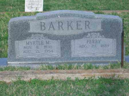 BARKER, MYRTLE M. - Stephens County, Oklahoma | MYRTLE M. BARKER - Oklahoma Gravestone Photos