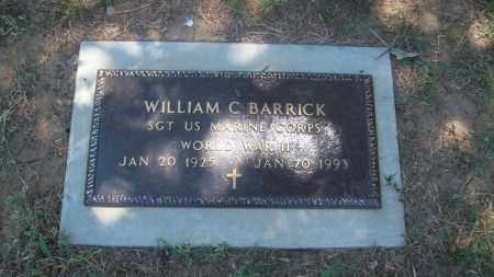 BARRICK (VETERAN WWII), WILLIAM C - Stephens County, Oklahoma | WILLIAM C BARRICK (VETERAN WWII) - Oklahoma Gravestone Photos