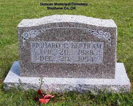 BERTRAM, RICHARD C. - Stephens County, Oklahoma | RICHARD C. BERTRAM - Oklahoma Gravestone Photos