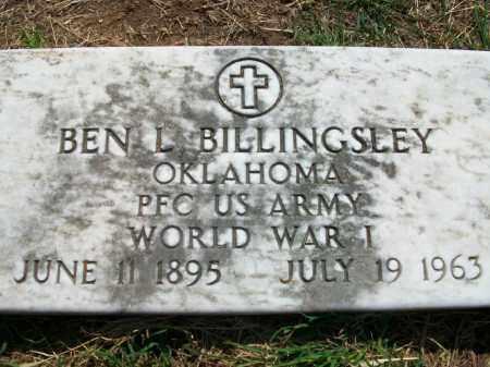 BILLINGSLEY (VETERAN WWI), BEN L - Stephens County, Oklahoma | BEN L BILLINGSLEY (VETERAN WWI) - Oklahoma Gravestone Photos