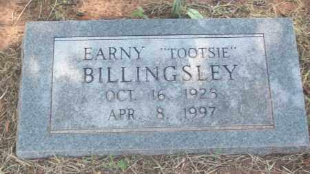 BILLINGSLEY, EARNY - Stephens County, Oklahoma | EARNY BILLINGSLEY - Oklahoma Gravestone Photos