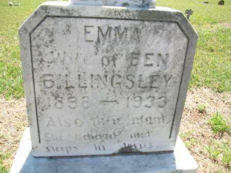 BILLINGSLEY, EMMA - Stephens County, Oklahoma | EMMA BILLINGSLEY - Oklahoma Gravestone Photos