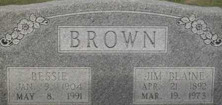 BROWN, JIM BLAINE - Stephens County, Oklahoma | JIM BLAINE BROWN - Oklahoma Gravestone Photos