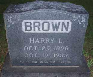 BROWN, HARRY L. - Stephens County, Oklahoma | HARRY L. BROWN - Oklahoma Gravestone Photos