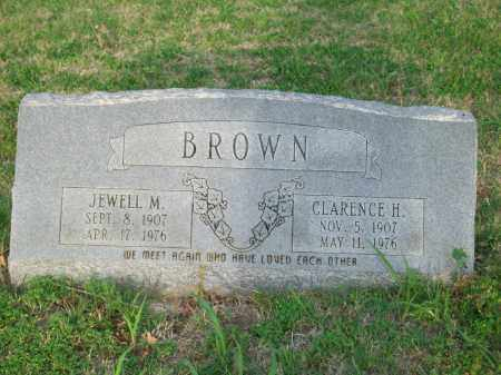 BROWN, CLARENCE H. - Stephens County, Oklahoma   CLARENCE H. BROWN - Oklahoma Gravestone Photos