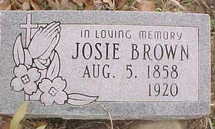 BROWN, JOSIE - Stephens County, Oklahoma | JOSIE BROWN - Oklahoma Gravestone Photos