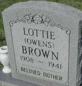 BROWN, LOTTIE - Stephens County, Oklahoma | LOTTIE BROWN - Oklahoma Gravestone Photos