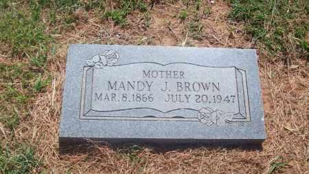 BROWN, MANDY J. - Stephens County, Oklahoma | MANDY J. BROWN - Oklahoma Gravestone Photos
