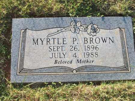 BROWN, MYRTLE P. - Stephens County, Oklahoma | MYRTLE P. BROWN - Oklahoma Gravestone Photos