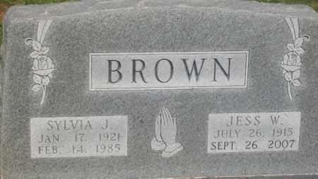 BROWN, SYLVIA J. - Stephens County, Oklahoma | SYLVIA J. BROWN - Oklahoma Gravestone Photos