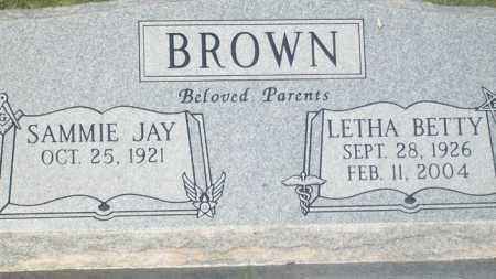 BROWN, LETHA BETTY - Stephens County, Oklahoma   LETHA BETTY BROWN - Oklahoma Gravestone Photos