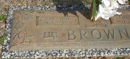 BROWN, SARAH M. - Stephens County, Oklahoma | SARAH M. BROWN - Oklahoma Gravestone Photos