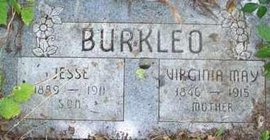 BURKLEO, VIRGINIA MAY - Stephens County, Oklahoma | VIRGINIA MAY BURKLEO - Oklahoma Gravestone Photos