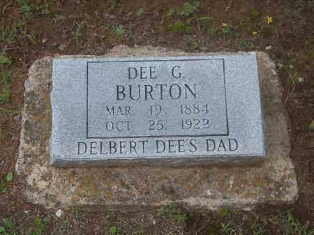 BURTON, DEE G. - Stephens County, Oklahoma   DEE G. BURTON - Oklahoma Gravestone Photos