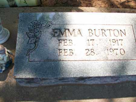 BURTON, EMMA - Stephens County, Oklahoma | EMMA BURTON - Oklahoma Gravestone Photos