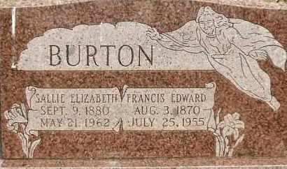 BURTON, SALLIE E. - Stephens County, Oklahoma   SALLIE E. BURTON - Oklahoma Gravestone Photos