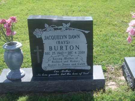 BURTON, JAQUELYN DAWN - Stephens County, Oklahoma | JAQUELYN DAWN BURTON - Oklahoma Gravestone Photos