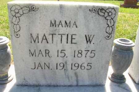 CLARK, MATTIE W. - Stephens County, Oklahoma | MATTIE W. CLARK - Oklahoma Gravestone Photos