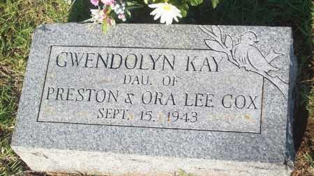 COX, GWENDLYN KAY - Stephens County, Oklahoma | GWENDLYN KAY COX - Oklahoma Gravestone Photos