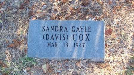 COX, SANDRA GAYLE - Stephens County, Oklahoma   SANDRA GAYLE COX - Oklahoma Gravestone Photos
